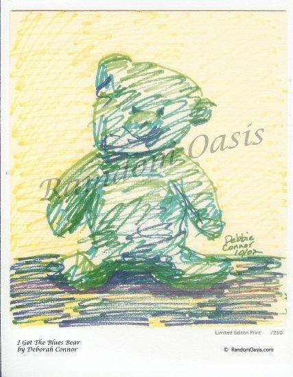I Got The Blues Bear - Limited Edition Print