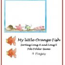 File Folder Game- My Orange Fish (Long A and Long E) PDF Format