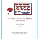 File Folder Game - Graduation Matching Alphabet (Upper Letters) PDF Format