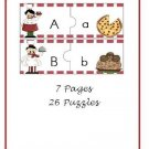 Literacy Center-Pizza and Pasta (ABC Puzzles) PDF Format