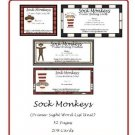 Literacy and Teacher Resources- Sock Monkeys (Primer-Sight Word List Unit) PDF Format.