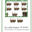 ESOL or ESL Teachers - My Little Wagon (Word numbers 1-15 Spanish and English) PDF Format