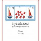 Teacher Resources - My Little Boat Numbers 1-20 Flipbook (Spanish and English) PDF Format