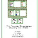 Math Center and Teacher Resources - Ice Cream Sequences (Counting by 2's up to 100)