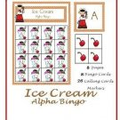 Literacy Center and Phonics Teachers- My Ice Cream Bingo (Upper Letters)