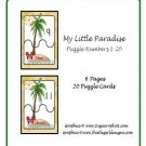 Literacy and Math Center- Teacher Resources - My Little Paradise (Puzzles Numbers 1-20)