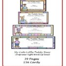 Literacy Center and Teacher Resources - My Cute Little Teddy Bear (Preprimer-Sight Word List Unit)