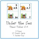 Math Center and Teacher Resources - Under the Sea (Times Tables 6-8) PDF Format