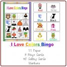 Learning Center and Teacher Resources - I Love Colors Bingo (PDF Format)
