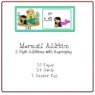 Math Center and Teacher Resources - Mermaid Addition (2 Digit Addition with Regrouping) PDF Format
