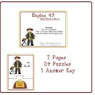 Math Center and Teacher Resources - Engine 49 (Multiplication Puzzle) PDF Format