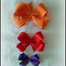 Small Monogram Initial Bow- You Choose Colors