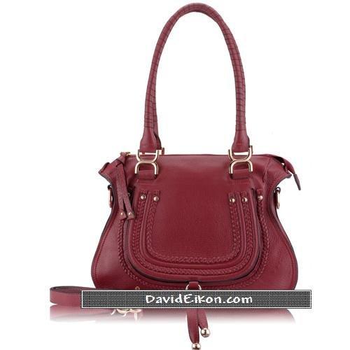 Burgundy Nappa Leather Bag