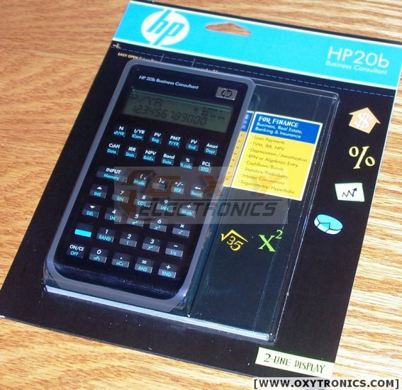 HP 20b Business Calculator NEW MODEL SEALED