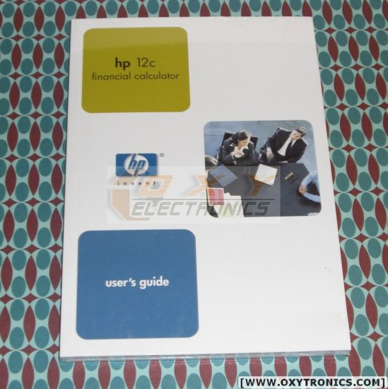 HP 12C Calculator User's Guide Manual HP OEM New