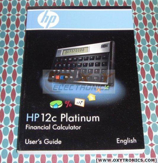 HP 12C Platinum Calculator User's Guide HP OEM New