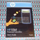 HP 10bii Calculator User's Guide Manual HP OEM New