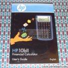 HP 10bii Calculator User's Guide Manual HP OEM New