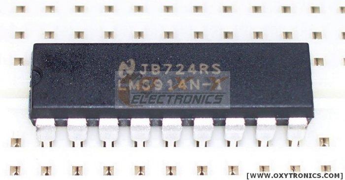 1 pcs LM3914 LED Display Driver  +  1 pcs 10 Segment LED Bargraph New!