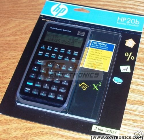 HP 20b business consultant financial calculator NEW
