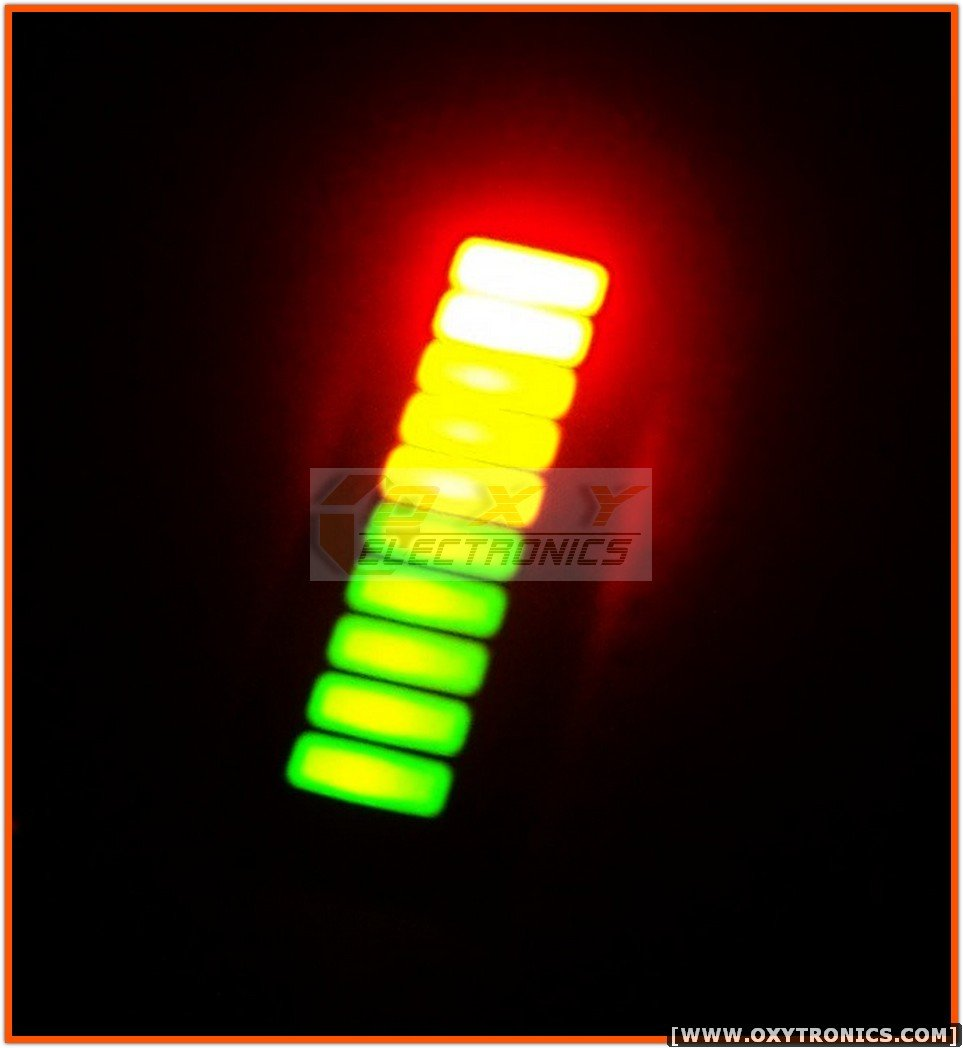 1 pcs 10 SEGMENT LED BARGRAPH Array fixed Tri-Color New