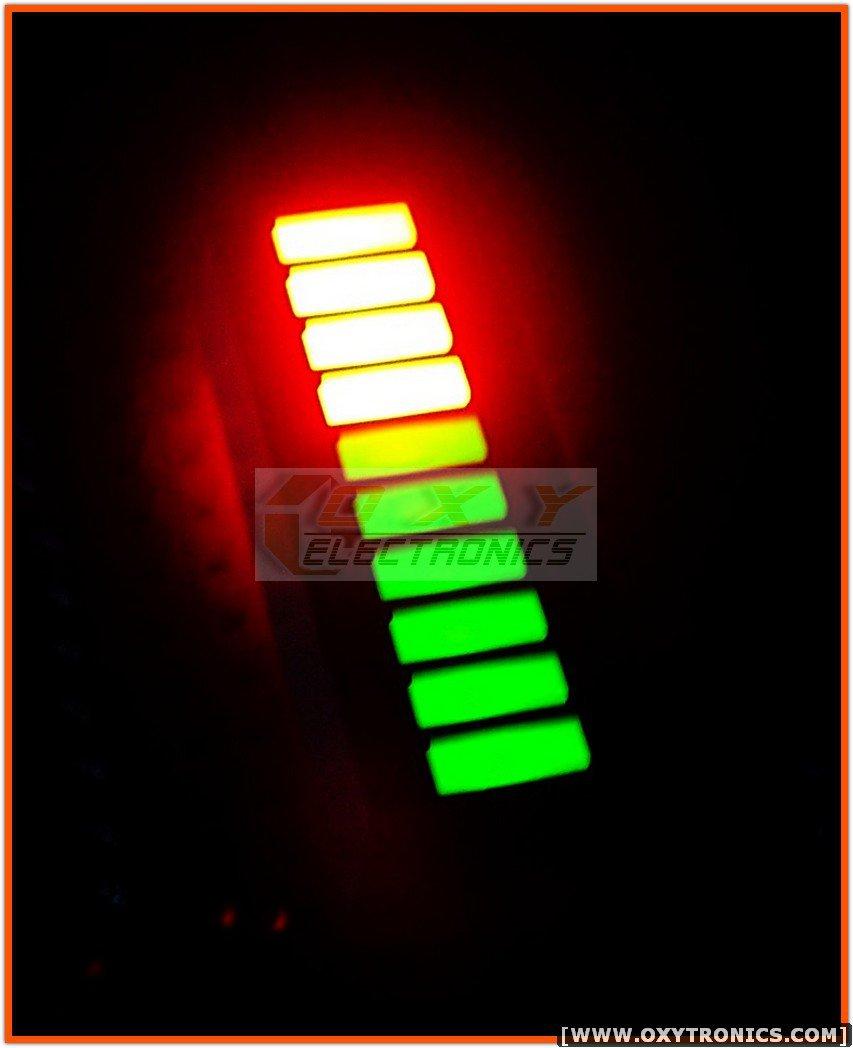 1 pcs 10-SEGMENT LED BARGRAPH Bi-Color Green-Red New