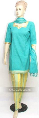 Item#CT1027 Paste & Yellow Cotton Salwar Kameez