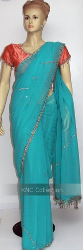 Item#SR1007 Mint designer saree (WAS-$190, NOW-$99)