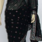 Item#SR1019 Black jorjet saree (WAS-$140, NOW-$99)