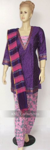 Item#CT1018 Pink/Purple Salwar Kameez