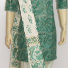 Item#CT1048 Paste and white cotton Salwar Kameez