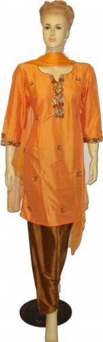 Item#CT1080 Peach color chosha silk salwar kameez