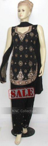 Item#ED1001 Black Jorjet Salwar Kameez (WAS-$210, NOW-$150)