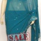 Item#SR1009 Teal Jorjet designer Saree (WAS-$190, NOW-$110)
