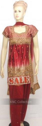 Item#ED1005 Meroon/Golden silk suit (WAS-$230, NOW-$150)