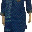 Item # CT10142 Blue and paste color Cotton block salwar kameez