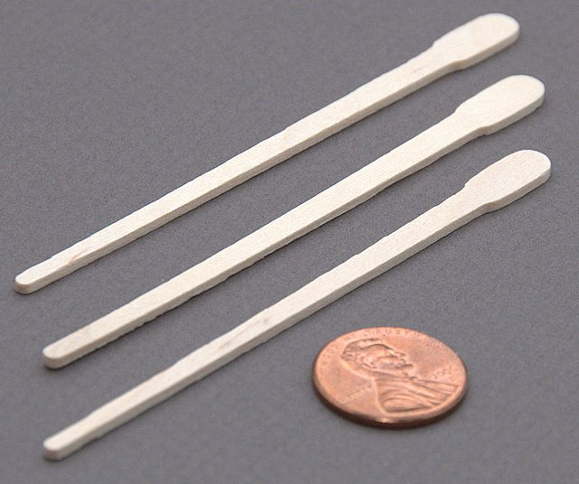 100 Disposable Small Wood Paddle Applicators for Eyebrow Waxing