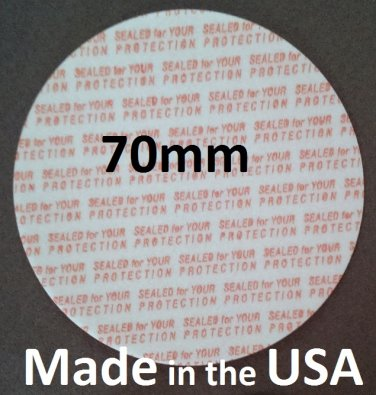Pack of 100 Press and Seal Cap Liners - 70mm Foam Safety Tamper Seals