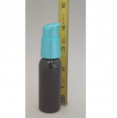 5 Refillable Black Dispensing Bottles 1oz 30ml Aqua TURNLOCK Lotion Pump ~ in US