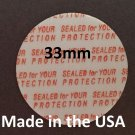 Pack of 200 Press and Seal Cap Liners - 33mm Foam Safety Tamper Seals