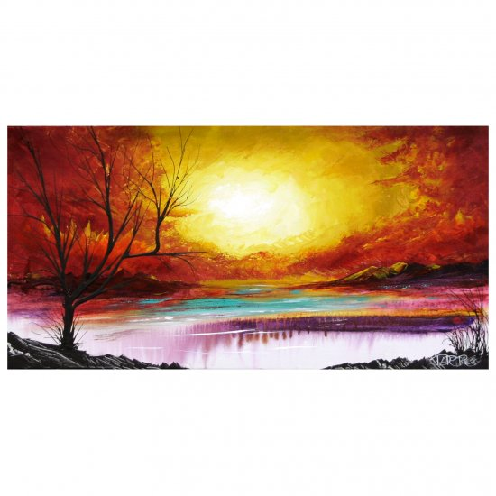 """""""Landscape Sunset Painting""""  Contemporary artist original painting acrylic on canvas"""
