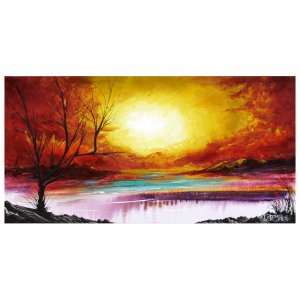 Landscape Sunset Painting   Acrylic Paintings Sunset
