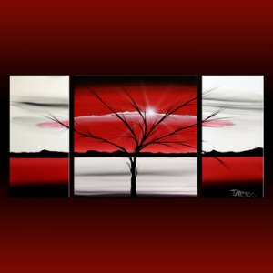 Black white and red canvas art 2017 grasscloth wallpaper for Red canvas painting ideas