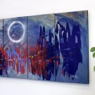 """Abstract painting 495"" extra large abstract, 60x30, oversize, original,modern, by artist Dapore"