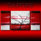 Landscape 443 red white black canvas art modern art painting