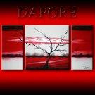 Landscape 443 red white black canvas art modern art painting