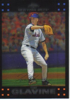 2007 Topps Chrome  #165 Tom Glavine   Mets