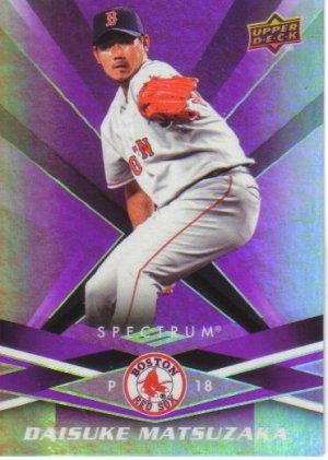 2009 Upper Deck Spectrum  #13 Daisuke Matsuzaka   Red Sox