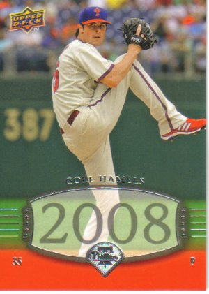 2008 Upper Deck Timeline  #284 Cole Hamels   Phillies