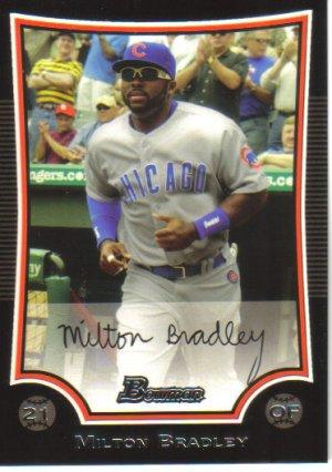 2009 Bowman  #104 Milton Bradley   Cubs